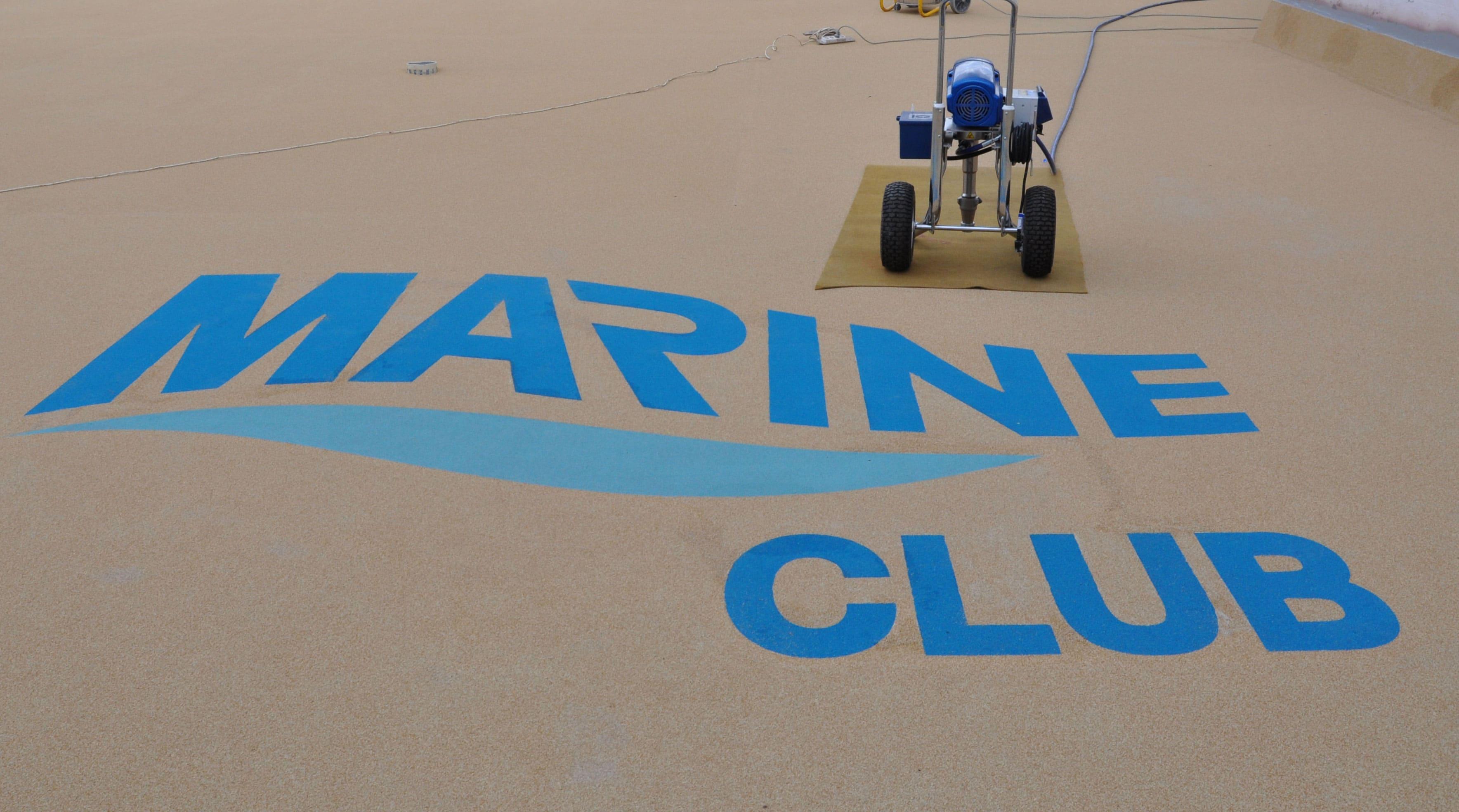 Капитальный ремонт открытой террасы Marine Club.